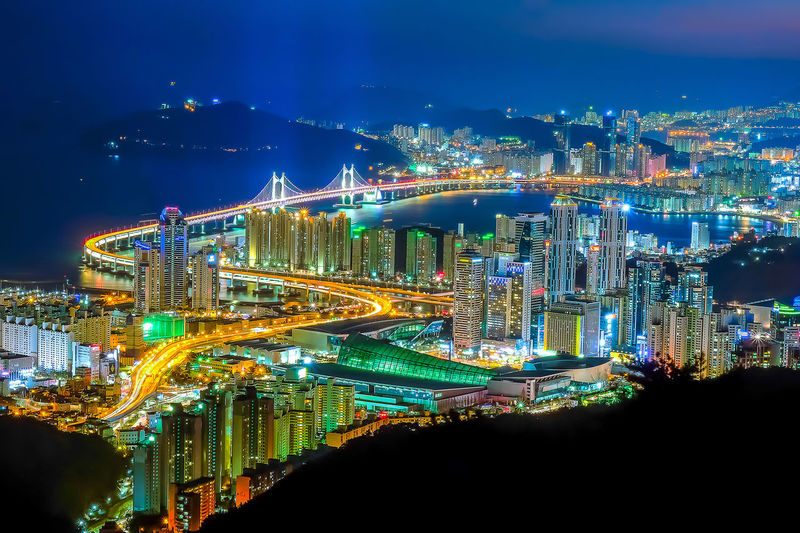 Aerial panorama view of Busan city at night of South Korea. Aerial Shot Architecture Busan,Korea Cityscape EyeEm Best Shots EyeEmNewHere Gwangan Bridge Haeundae Beach Korea Night Lights Night Photography Panorama Aerial View Building Buildings Busan Busan Port Busan, Korea Gwangali Beach Gwangalli Haeundae Landmark Landscape Night View