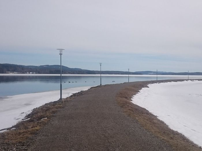 Curvey Road Open Water Springtime Spring Ice Water