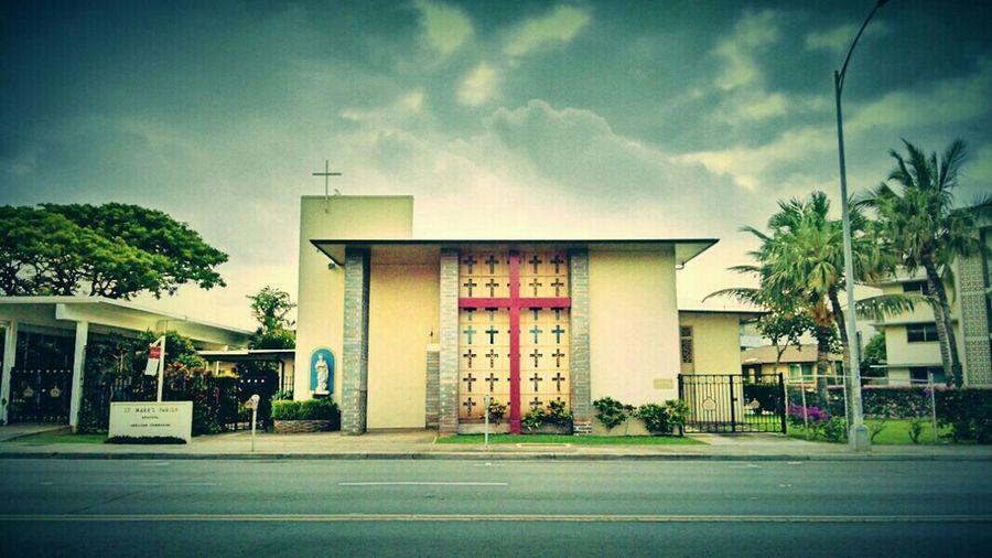 St Marks Episcopal Church Honolulu, Hawaii The Architect - 2015 EyeEm Awards Midcentury Modern Architecture Architecturelovers EyeEm Best Shots - Architecture Architecturephotography Midcenturychurch Oscar Niemeyer