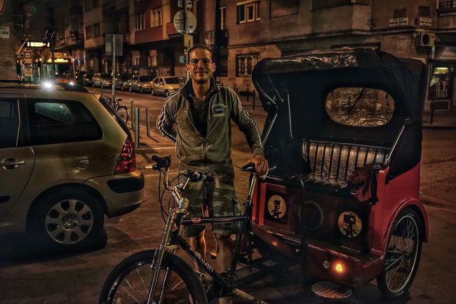 Rickshaw pullers One Man Only Only Men One Person Transportation Mode Of Transport Adults Only Standing Men Land Vehicle Car Portrait People Adult Young Adult Night Occupation Outdoors SONY A7ii Sony2470mm