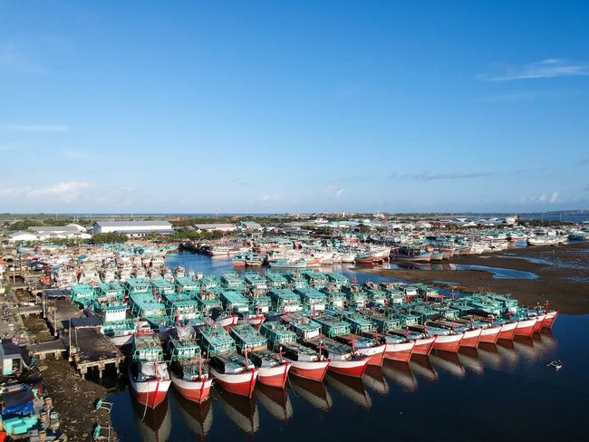 A drones view of Benoa Harbour, Bali. Bali Drone Photography From Above  Dji Drone Panorama Drone Photography Drone  Aerialphotography Aerial View Benoa Bali Harbour Harbor Fishing Boats Fishing Boat Boats And Water Boat Sea Water Outdoors Day Beach Horizon Over Water High Angle View Large Group Of Objects Sky Abundance No People Blue Clear Sky Nautical Vessel