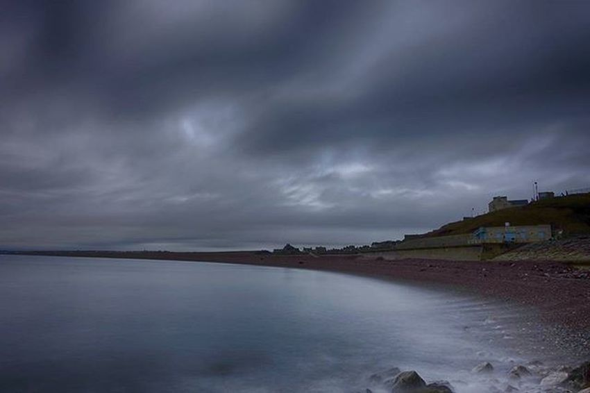 Chesil symmetry Jurassiccoast Dorset Chesilbeach Portland Lovedorset Clouds Longexposure Coast