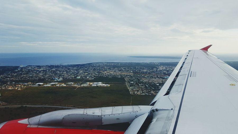 aterissage a Santo-dominingo 2016 Republique Dominicaine❤️ Avion Voyage Aterissage