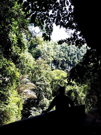 Bantimurung National Park Shadows And Backlighting People Guests Me Hills And Valleys Hillside Green In Shadow