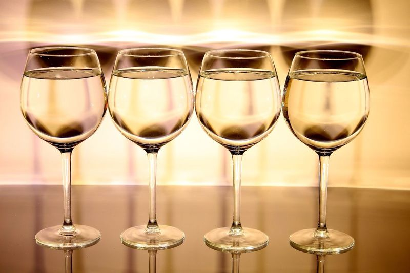Close-up of wineglasses
