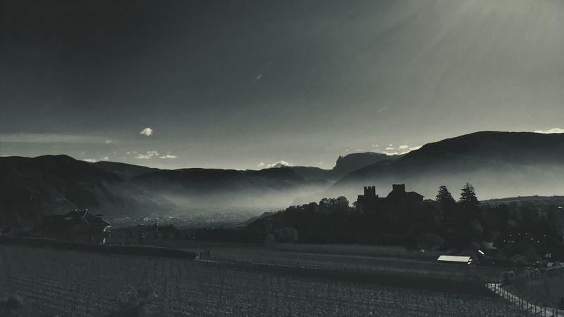 Mountain Landscape Mountain Range Alto Adige Monochrome Monochrome Photography Monochromatic Panorama Panoramic Photography