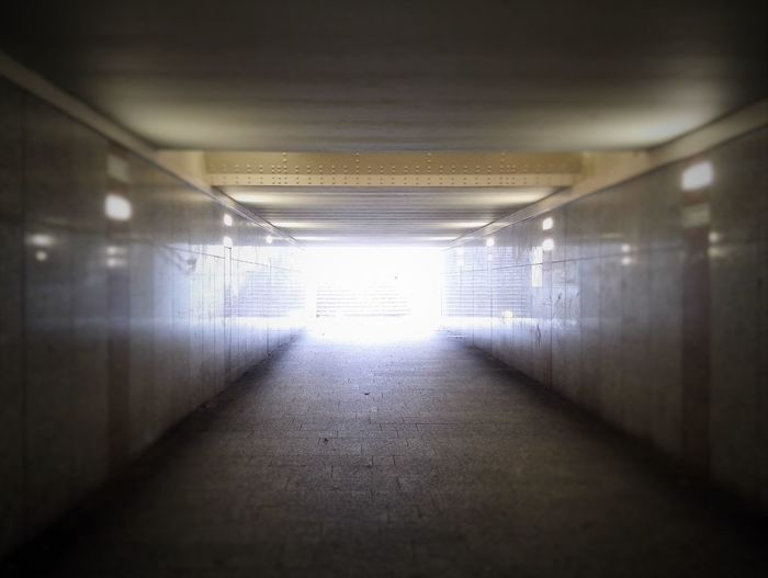Daylight Lights And Shadows Step Foreward Under The Bridge Underground Way To Go Home