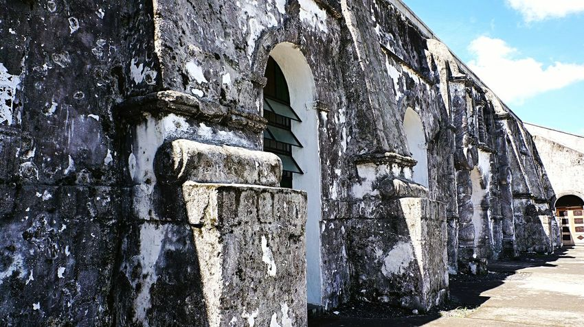 Stone wall. Stone Wall Wall Stone Church Church Wall Vintage Heritage Heritage Site Christian Church White Wall Eyeem Photography Eyeem Philippines The Week On EyeEm Heritage Building Baroque Architecture Baroque Style Church Exterior Church Buildings
