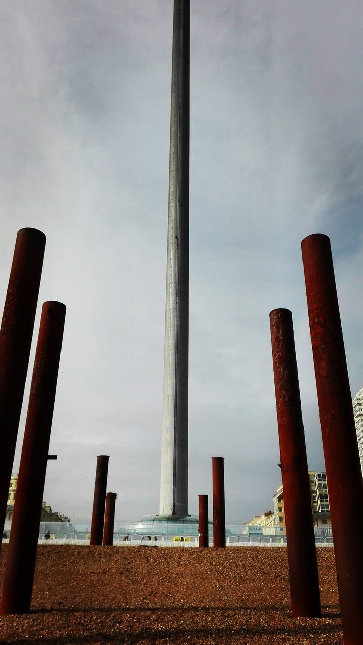 sky, day, outdoors, architectural column, no people, nature, water