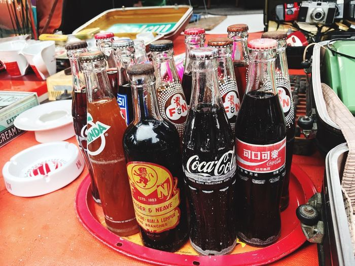 Still Life Food And Drink No People Arrangement Choice Large Group Of Objects Indoors  Table Retail  Drink Variation Container For Sale In A Row Household Equipment Refreshment Food Side By Side