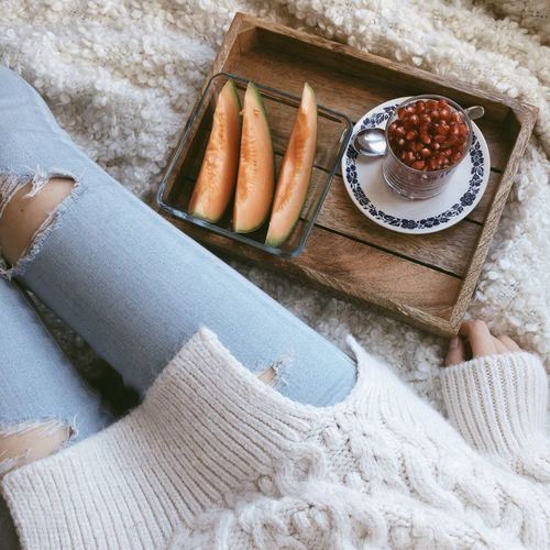 Fruit Cozy Sweaterweather Sweater Ootd Outfit Hello World Simplicity Snacking Healthy Healthy Food Autumn Vitamins Pomegranate Melon Details Showcase: November