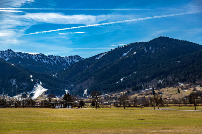 Bavaria Travel Architecture Bavarian Alps Beauty In Nature Building Exterior Cloud - Sky Day Field Grass Landscape Mountain Mountain Range Nature No People Outdoors Scenics Sky Snow Tranquil Scene Tranquility Tree