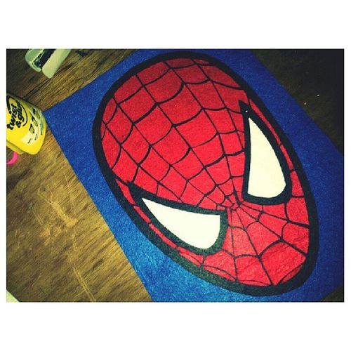 Alhamdulillah. Akhirnya siap jugak potong memotong.... terhasillah Spiderman yang diorder. yayyyy!!!!! Feltproject FeltCraft Malaysiancrafter