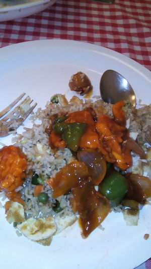 Delicious Rice with chillie curry
