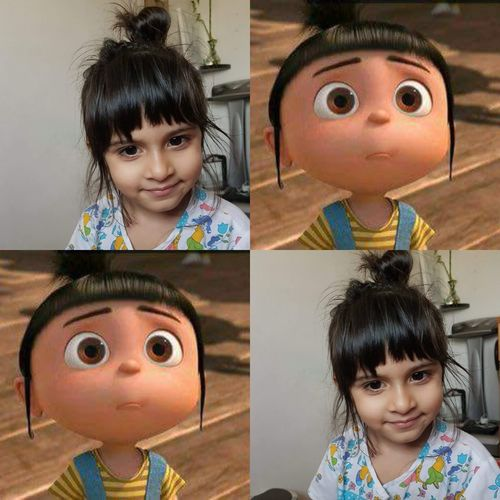 Agnes Despicableme #agnes EyeEm Selects Child Portrait Childhood Friendship Girls Looking At Camera Headshot Females Happiness