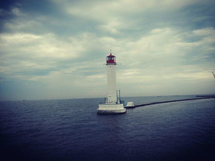 моряк Море Маяк Lighthouse Sea Sky Ocean Life Lonely Beacon Beaconlivht атмосфера Aura Atmosphere Mood First Eyeem Photo