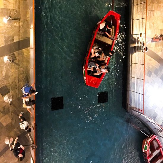 Redboat Indoors  Water High Angle View Nautical Vessel Nature Transportation Mode Of Transportation Canal Architecture Luxury