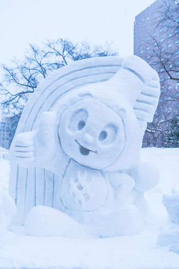 Sapporo Snow Festival Feb 2018 Japan Japan Photography Japanese  Sapporo,Hokkaido,Japan Snow ❄ Art And Craft Close-up Cold Temperature Craft Creativity Day Extreme Weather Field Frozen Human Representation Land Nature No People Plant Representation Sapporo Snow Snow Covered Snowing Snowman Tree White Color Winter