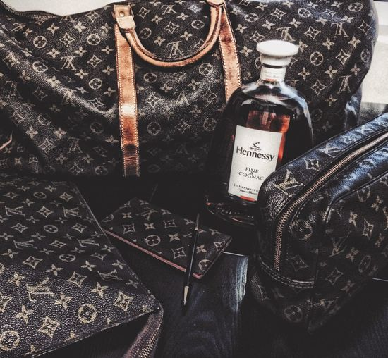 Fashion Addict Louis Vuitton Collection Stylin Travel Set Matching Luggage with Hennessy imported from Paris