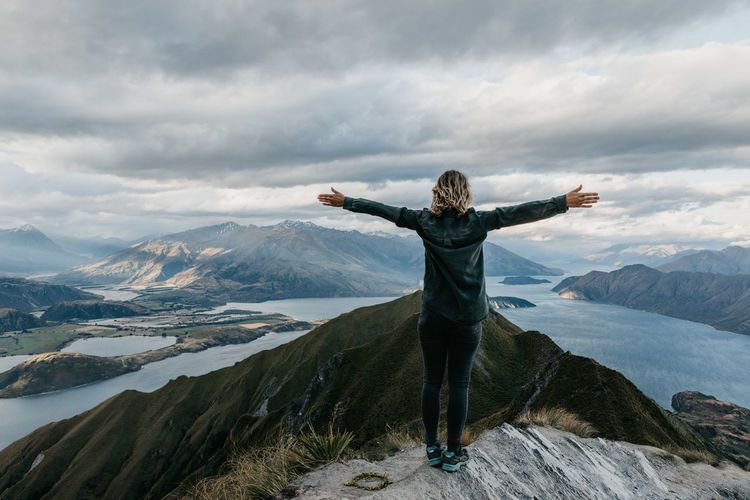 Alone Time Exploring Freedom Friends Hiking Quality Time Traveling View Wanaka Wanderlust Adventure Explore Hike Lake Landscape Mountain Newzealand Ocean One Person Outdoors Peak Roadtrip Royspeak Travel Destinations View From Above Inner Power