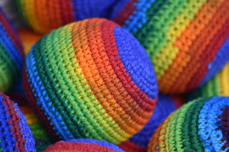 Full Frame Shot Of Colorful Woolen Balls