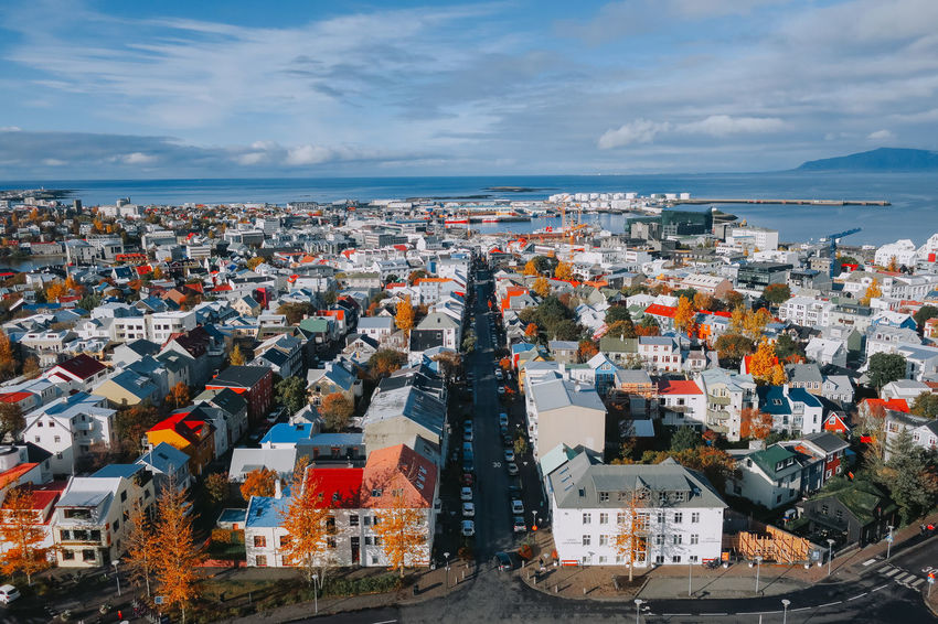 Autumn Iceland Reykjavik Road Architecture Beauty In Nature Building Exterior Built Structure Canon City Cityscape Cloud - Sky Colorful Day Europe High Angle View Horizon Over Water House Landscape Nature Outdoors Scenics Sea Sky Wide Angle Go Higher