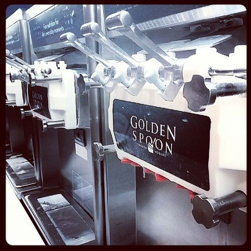 Frozen yogurt after the movies...YES! Goldenspoon Carlsbad Thursdays Androidonly