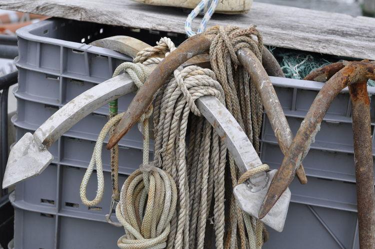 Impressionen im Hafen von Arnis, der kleinsten Stadt Deutschlands. #Arnis #heinothiede TAUE Anchor Anker Day Focus On Foreground Nikonphotographer No People Outdoors Ropes Rusty Metal Seile