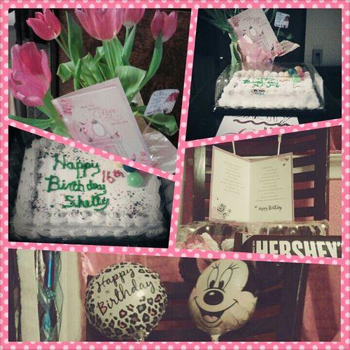 Cake My Birthday Cards Cupcakes Pink Flowers Hersheys ♥