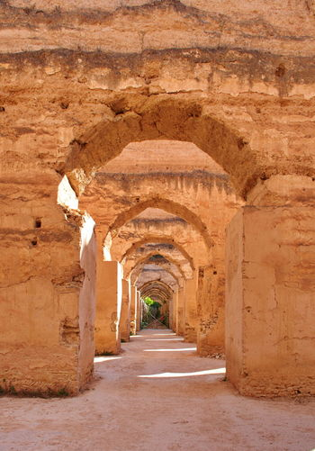 Ruins and arches in meknes, morocco