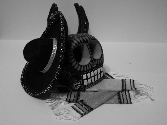 Still Life Mex Mexico No People Man Made Object Art And Craft Artistic Antropology Monochrome Photography Black And White Collection  Souvenirs