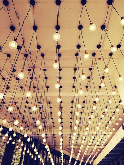 Lights Pattern Bulbs Light Kuala Lumpur Hanging Cables Cable Ceiling Ceiling Lights Symmetry Aligned Bulb Light Simplistic Shot Picture Perfect Picturesque Place Simplistic Beauty Simplistic Indoors  Indoor Photography IndoorPhotography