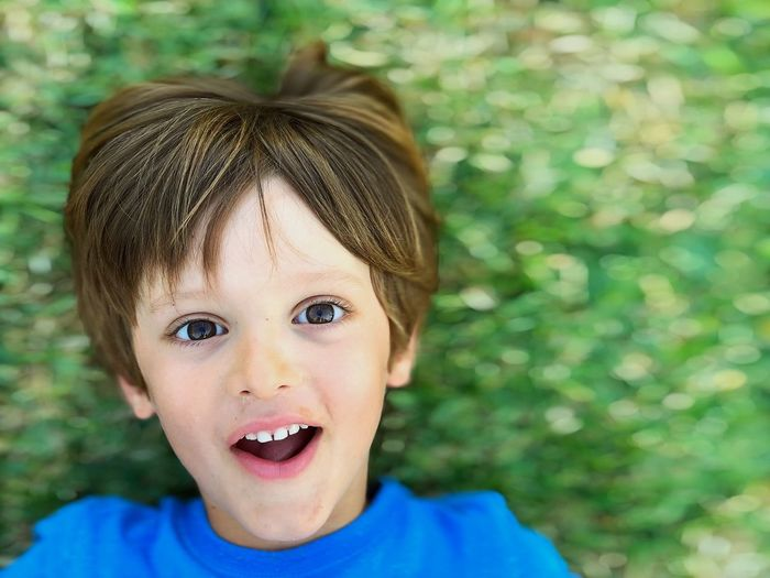 Portrait Childhood Child Looking At Camera Headshot Front View One Person Real People Boys Focus On Foreground Males  Smiling Innocence Outdoors Mouth Open Human Face
