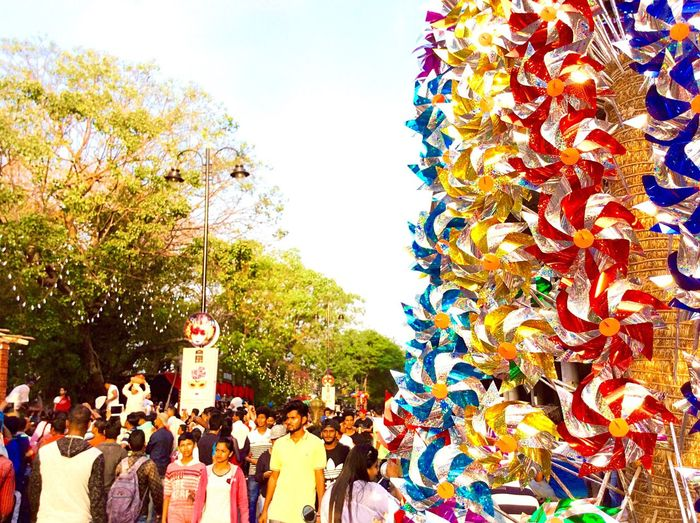 Lifestyles Real People Large Group Of People Men Women Leisure Activity Tree Outdoors Celebration Multi Colored Clear Sky Day Crowd Eyeem Marketplace Goa Carnival Carnival Crowds And Details EyeEm
