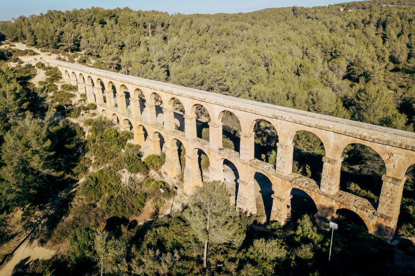 Aqueduct DJI X Eyeem Drone  The Ferreres Aqueduct Aerial Aerial View Ancient Ancient Civilization Animal Themes Architecture Bridge Bridge - Man Made Structure Built Structure Day Dronephotography History Landscape Mammal Mountain Nature No People Old Old Ruin Outdoors Sky Travel Destinations Tree