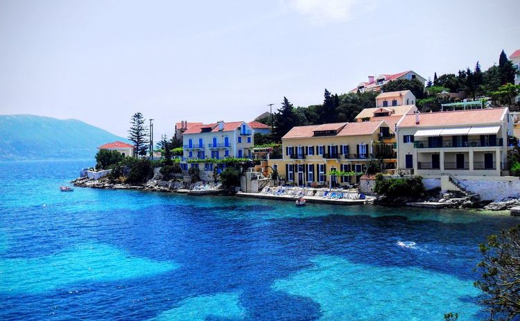 Building Exterior Architecture Built Structure Water Waterfront House Residential Structure Residential Building Sea Canal Sky Blue Day Town Residential District In Front Of Outdoors No People City Life Kefalonia, Greece