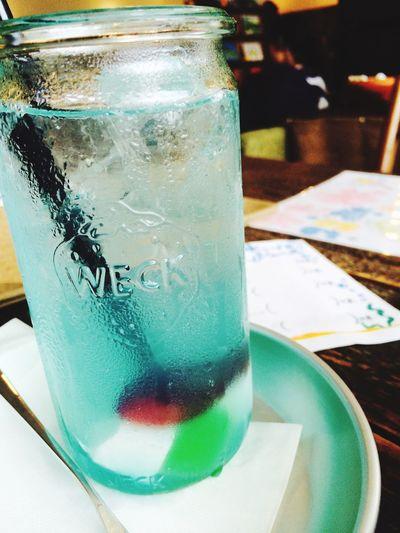 金魚ソーダ Relaxing Cafe Time Cafe Juce Summer Summertime Enjoying Life Fish Drinking Drinks Drink