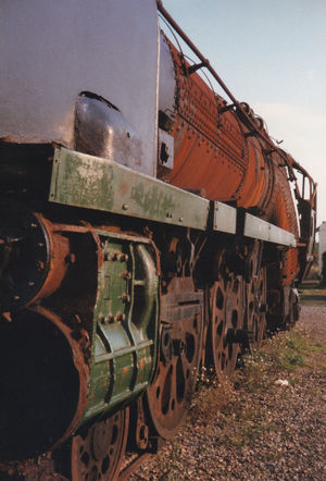 History Mode Of Transport Train - Vehicle Rusty No People Locomotive Outdoors Steam Train Day Breakers Yard Scrap Yard Public Transportation Film Photography Rail Transportation Old-fashioned Railroad Track Transportation Engine Steam Locomotive Faded Glory Something Beautiful Remains
