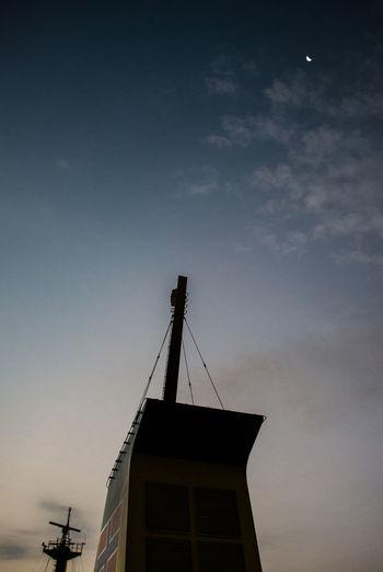 Chimney Chimney Of The Ship Daybreak Deep Blue Sky Landscape_Collection Landscape_photography Moon_collection Sky_collection
