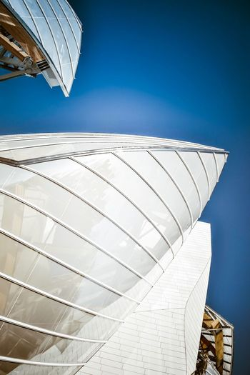 Foundation Louis Vuitton Paris, France  Museum EyeEm Selects Architecture Built Structure Building Exterior No People Day Outdoors Low Angle View Sky Modern Clear Sky City Blue
