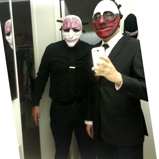 Throw back with my cousin last Halloween dressed up as hoxton and wolf from payday 2. Can't wait for the Xbox one edition. TBT  Cousin Halloween Wolf Hoxton Paydaytheheist2
