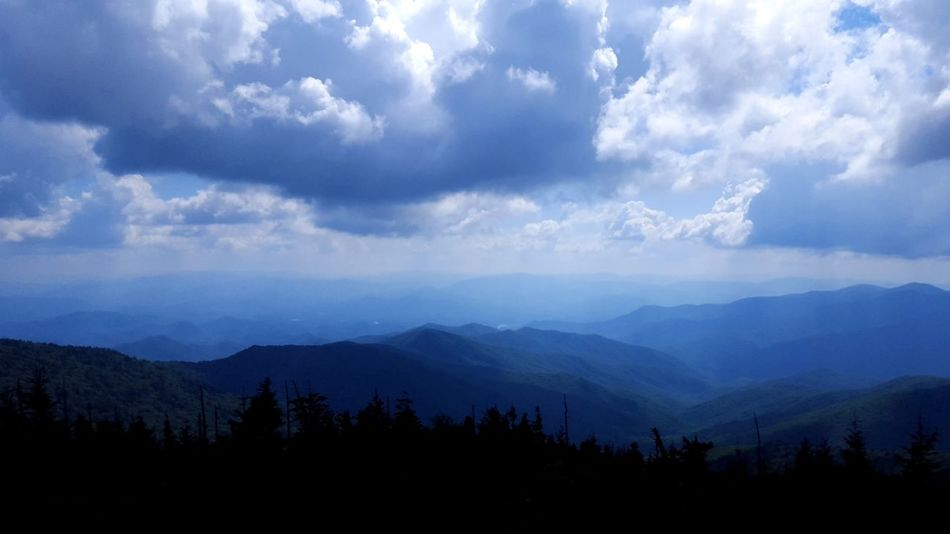 Clingmans Dome Great Smoky Mountains  Beauty In Nature Clouds Forest Incoming Storm Landscape Mountain Nature No People Outdoors Range Silhouette Sky Tree