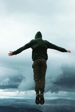 Madrid Roof Nature Sky Cloud Vertical Full Length One Person One Man Only Only Men Rear View Outdoors Cloud - Sky People Lake Person Ominous Sky Nature Day Adult Match - Sport