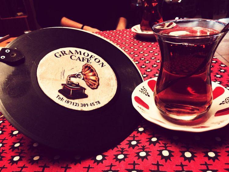 Tea Gramafon My Happy Place  Taking Photos Relaxing Eye4photography  Silhouette Ankara #castle Gramafon Cafe