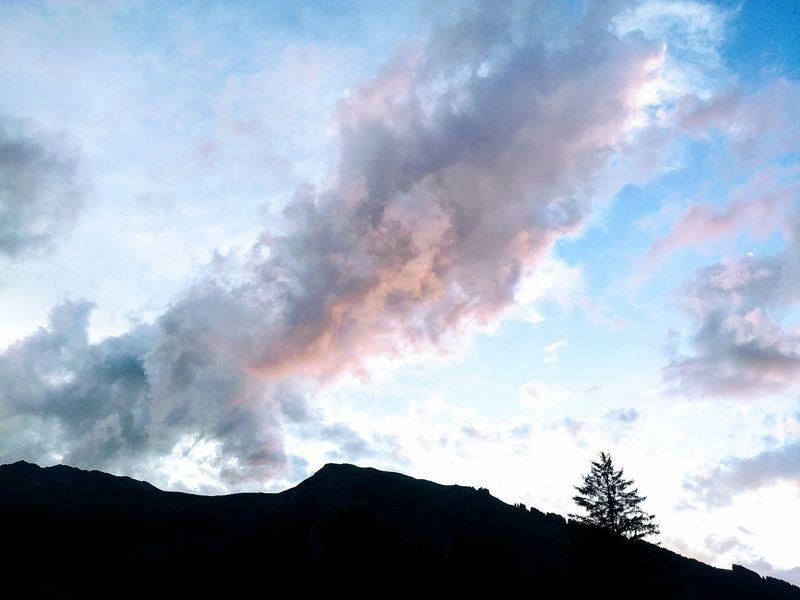 Mountain Cloud - Sky Silhouette Outdoors No People Nature Tree Landscape Scenics Sky Beauty In Nature Day Switzerland Alps Schweiz 🇨🇭, Sunset Berner Oberland Simmental Lenk Beauty In Nature Mountain Range Nature