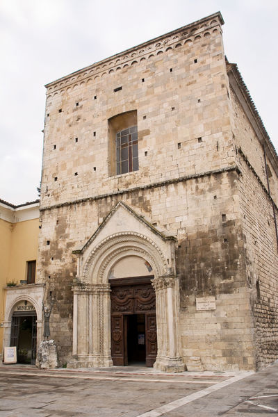 Church of St. Francesco in Guardiagrele (Abruzzo-Italy) Abruzzo Architecture Chieti Church Francesco Guardiagrele Holy Italian Italy Portal Town Village