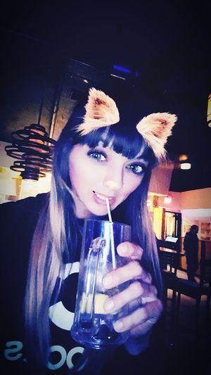 Happy 30th Birthday To Me!! Happy Birthday! Im30 Indoors  Drink Night One Woman Only Bar Fun Drinking Straw Rum And Redbull My Drink Drinking Night  Birthday Drinks