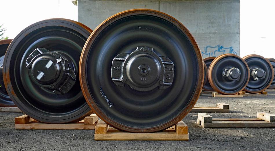 Mannheim Close-up Extreme Close Up Industrial Mannheim Mannheimgram Metal Outdoors Part Of Railway Wheels