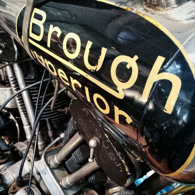 "Brough Superior ""works scrapper"" 1000cc SS100. Built as a Brooklands race motorcycle in 1927 it was the worlds fastest motorbike in 1929 Brooklands Brooklandsmuseum Classic Motorcycle Classic Motorcycles Brough Superior Vintage Motorcycles Vintage Motocycle Classic And Vintage Racing"