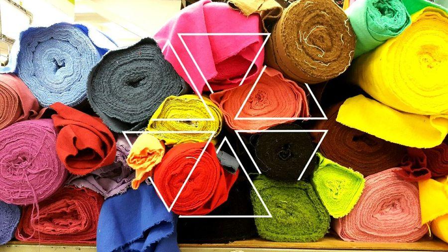 colours onto